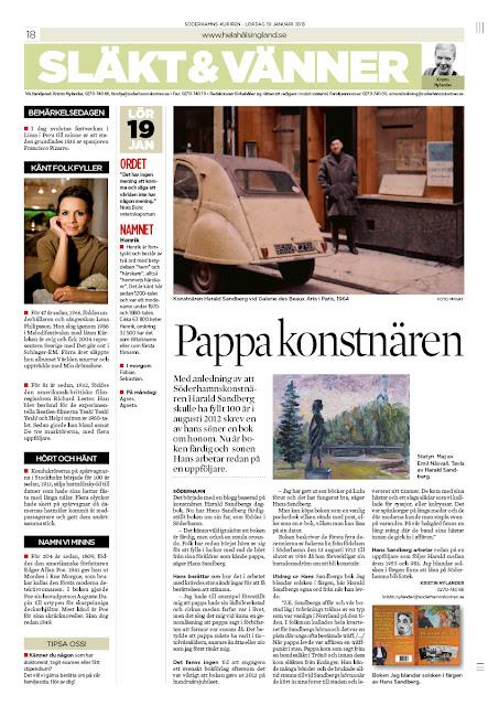artikel om boken om Harald Sandbergs väg till konsten