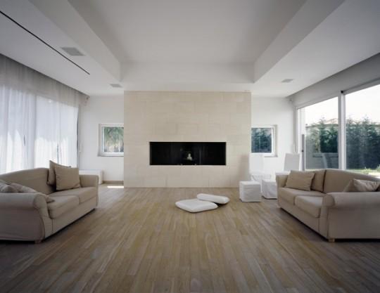 Casa moderna con piscina y vista al mar ideas para for Salas modernas de casas
