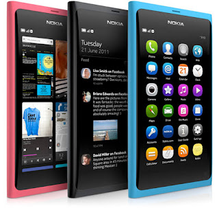 Nokia launche the first ever pure touch smart phone with no buttons, N9