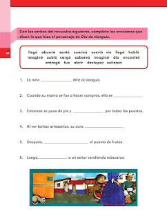 Apoyo Primaria Español 2do grado Bloque 1 lección 18 Día de tianguis