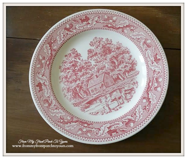 Red Transferware-Thrift Store Shopping- From My Front Porch To Yours