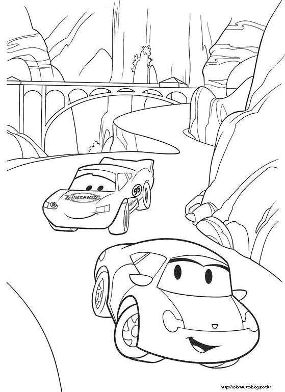 Cars disegno da colorare n 2 for Cars 2 da stampare