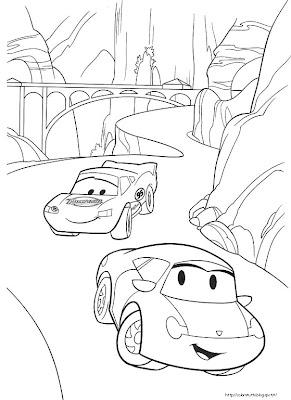 Cars disegno da colorare n 2 for Disegno di cars 2 da colorare