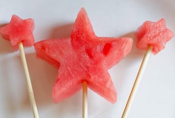Estrellas de Fruta para mesa dulce