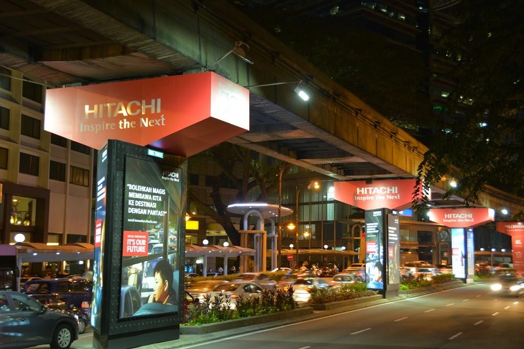 Kuala Lumpur by night Hitachi