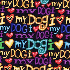 "Tela ""I love my dog"" (SN)"