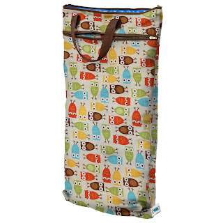planetwise hanging wet/dry bag owl print