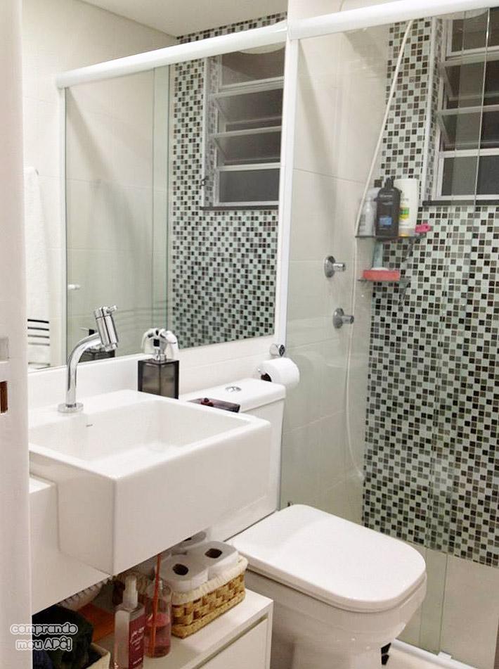 Apartamento da leitora Mara Isa  Comprando Meu Apê  Comprando Meu Apê -> Meu Banheiro Moderno