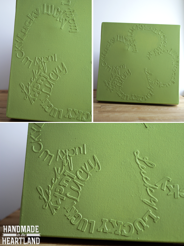DIY Lucky Shamrock Canvas Art