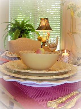 Golden table for Autumn....always a favorite