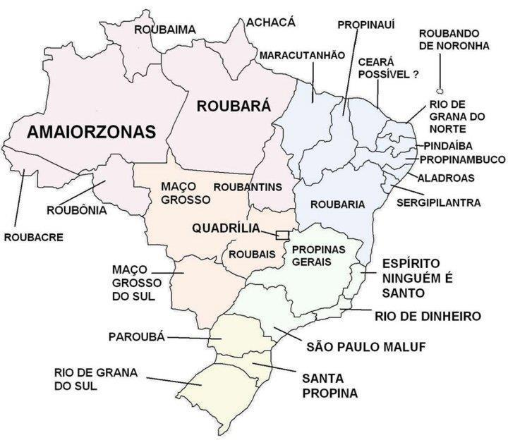 Blog do Antonio Morais NOVSSIMO MAPA POLTICO DO BRASIL  Por