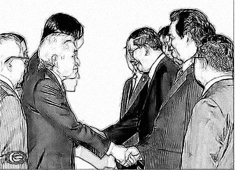 Nhật Hoàng Akihito đón Thủ tướng Nguyễn Tấn Dũng và các Trưởng đoàn.