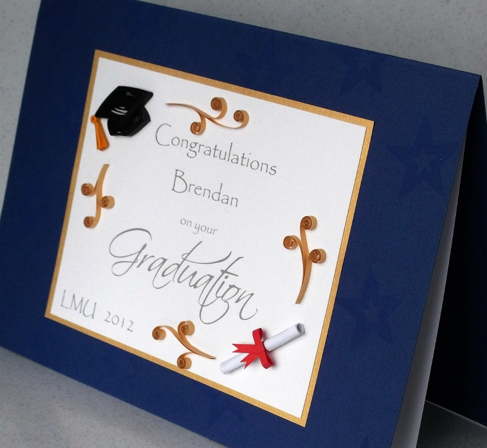 Paper Daisy Cards Quilled Graduation Card For Girls