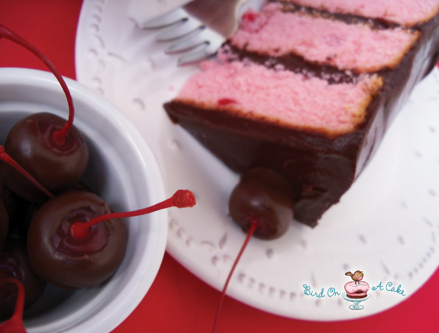 Bird On A Cake: Chocolate Covered Cherry Cake