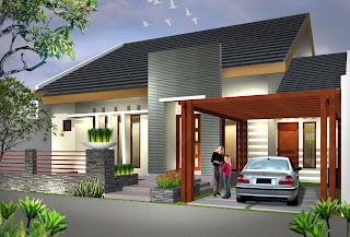 Contoh desain rumah minimalis modern berukuran sedang