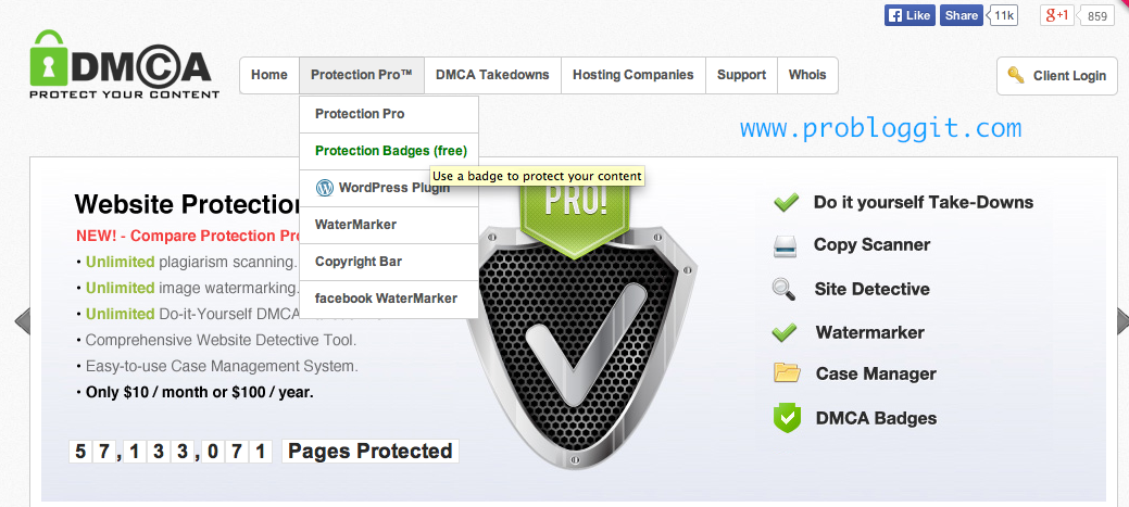 Cara Memasang Widget DMCA Beserta Kegunaanya Untuk Blog