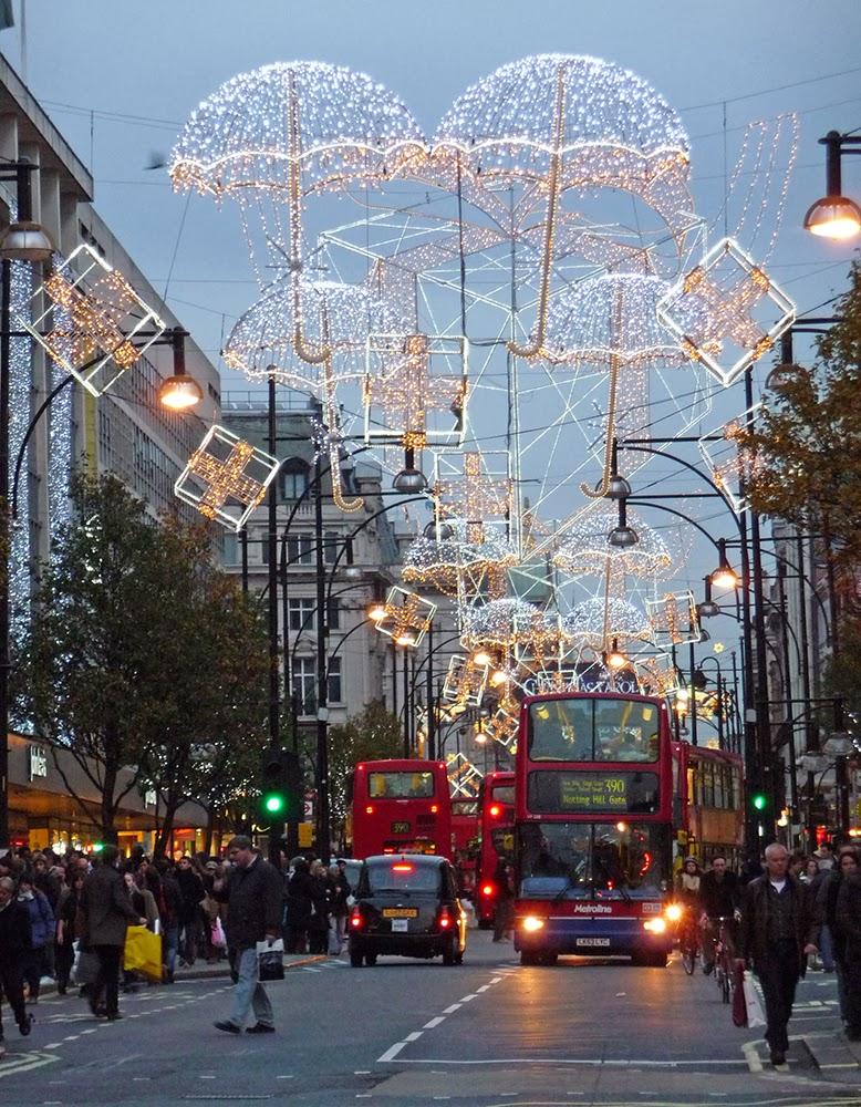 christmas lights london images