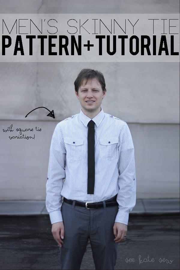 men's skinny tie pattern - see kate sew