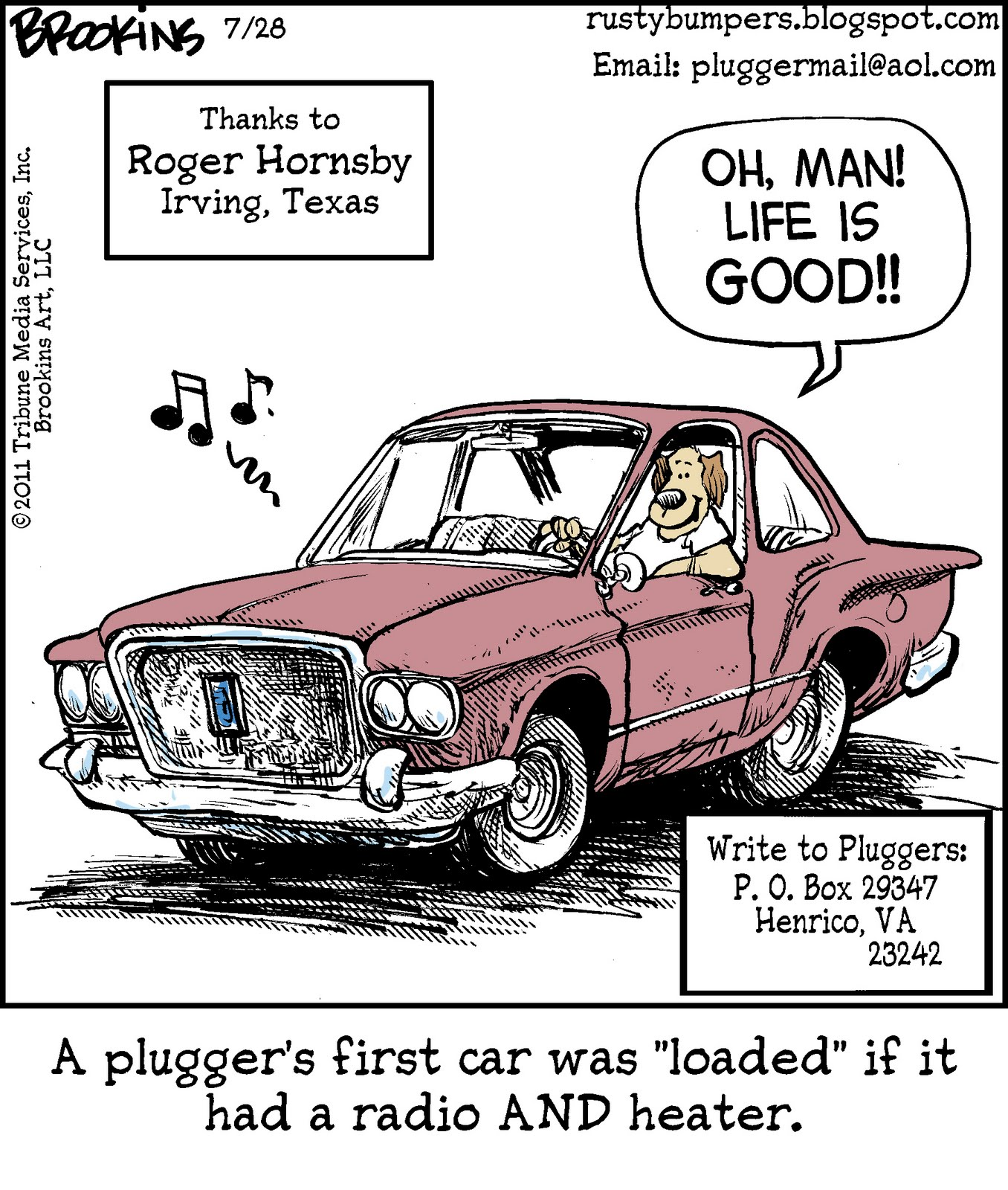The Comic News Editorial Cartoon By Paul Conrad Tribune: Rusty Bumpers: July 2011