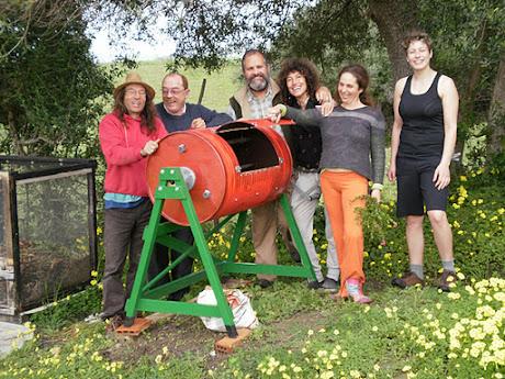 taller compostador giratorio