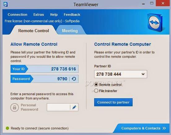 Connect Teamviewer V9