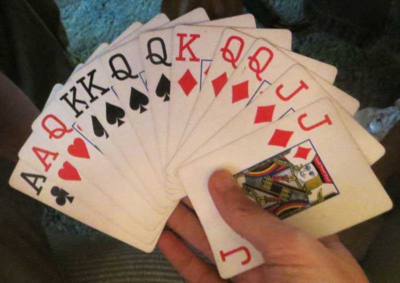 how to count triple aces around in double pinochle