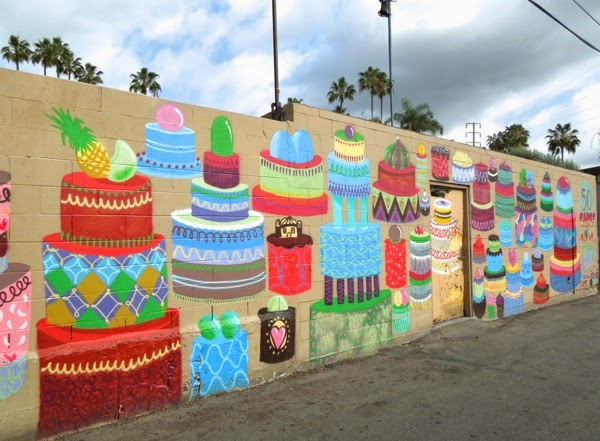 Cake And Art In West Hollywood : Gay marriage wedding cake wall mural West Hollywood
