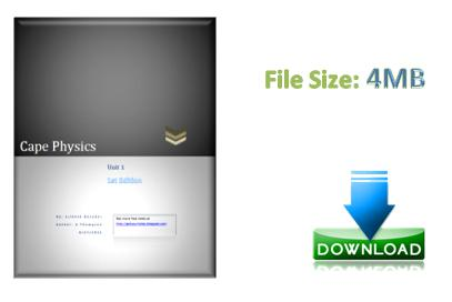 cape physics unit 1 ebook download science decoder