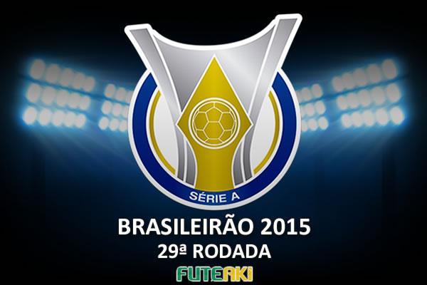 Veja o resumo da 29ª rodada do Brasileirão 2015, com vídeos dos gols e melhores momentos de cada partida.