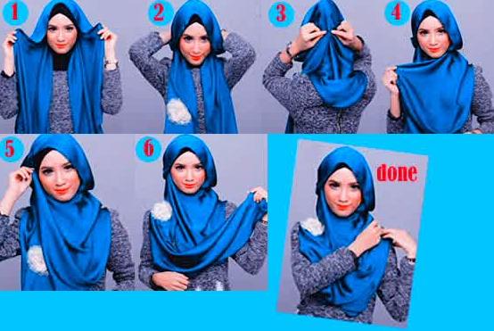 Bentuk Hijab Untuk Wajah Lonjong