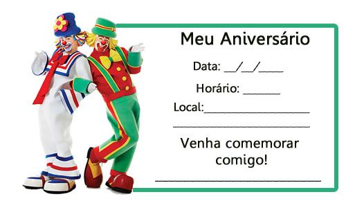 Convite de Aniversário do Patati e Patata - Para imprimir