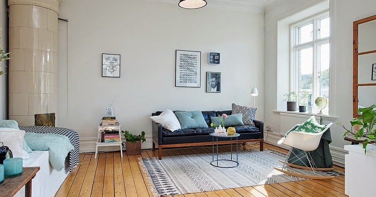 Scandinavian homes lovely small apartment in sweden for Small scandinavian apartment