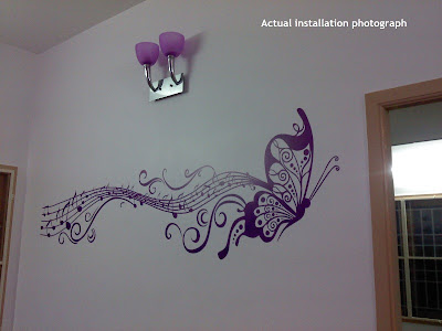 Musical butterfly for living room