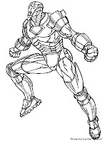 Gambar Iron Man 3 Untuk Diwarnai
