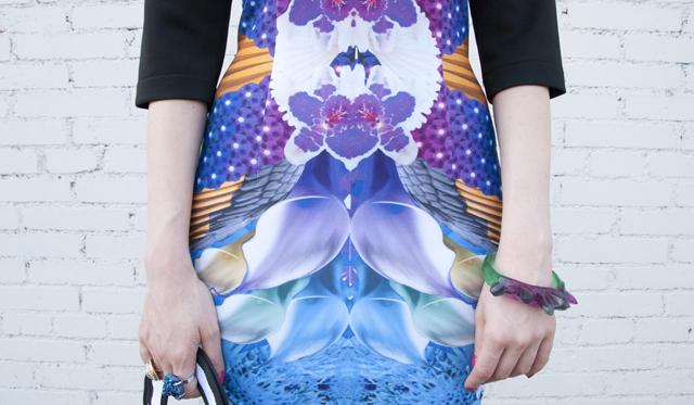 lalalove, printed dress, london