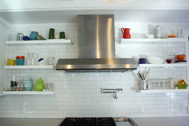 Modern Kitchens with Floating Shelves