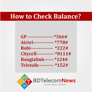 Check Balance in Teletalk gp robi airtel