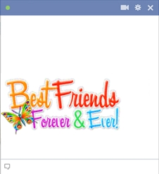 Best friends forever emoticon chat code