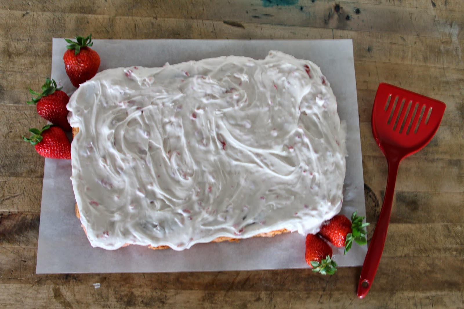 Strawberries And Cream Sheet Cake Southern Living