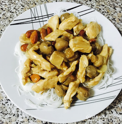 pollo con almendras al estilo chino receta paso a paso