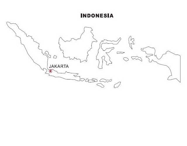 COLOREA TUS DIBUJOS: Mapa de Indonesia para colorear