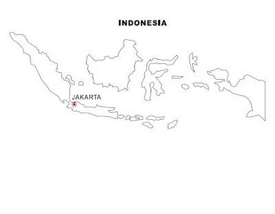 Mapa de Indonesia para colorear ~ 4 Dibujo