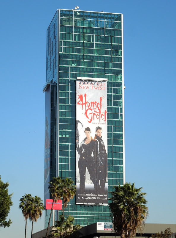 Hansel Gretel Witch Hunters movie billboard