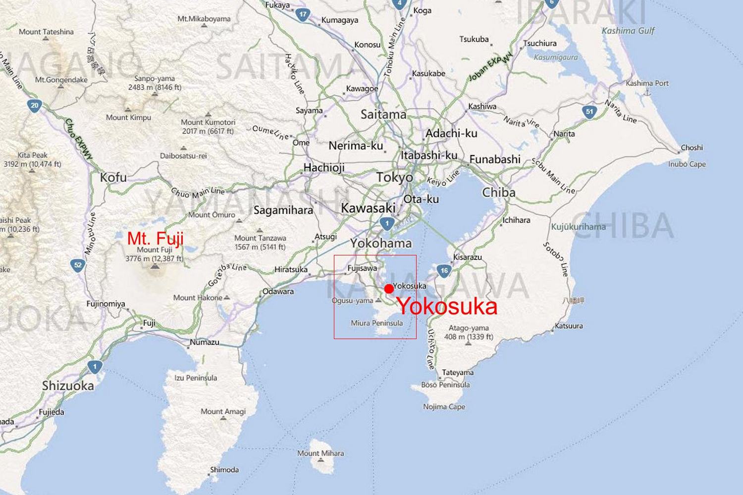 Us Navy Base Yokosuka Japan Map - Us naval bases in japan map