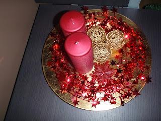 Centros de Mesa de Navidad Rojos, parte 4