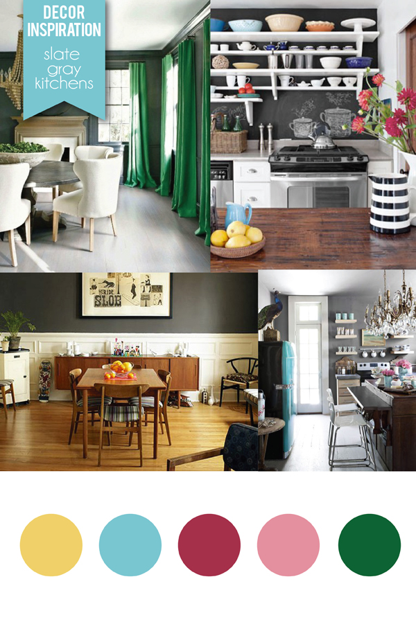 slate gray kitchens via Holly Would
