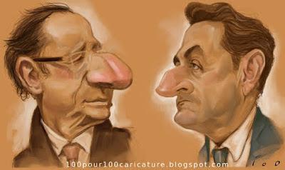 Caricatures de F. Hollande et N. Sarkozy par ioo