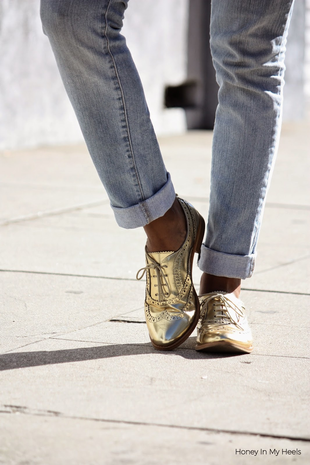 Shoes Sam Edelman metallic oxfords