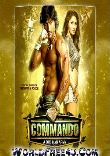 Poster Of Bollywood Movie Commando (2013) 300MB Compressed Small Size Pc Movie Free Download worldfree4u.com