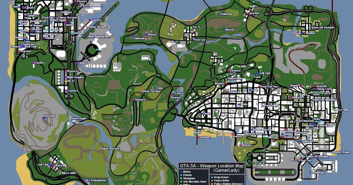 Trucos y Mapa para GTA San Andreas de PC
